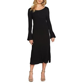 1.STATE Bell Sleeve Midi Dress Rich Black