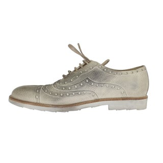 Dolce & Gabbana Beige Leather Wingtip Shoes - eu44-us11