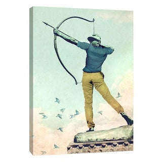 "PTM Images 9-109109  PTM Canvas Collection 10"" x 8"" - ""Hipster Archer"" Giclee Men Art Print on Canvas"