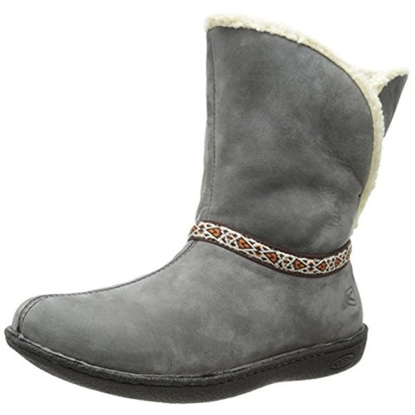 Keen Womens Galena Mid Winter Boots Suede Embroidered