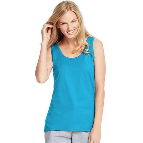Hanes Live.Love.Color®; Scoop Neck Tank - Size - M - Color - Process Blue
