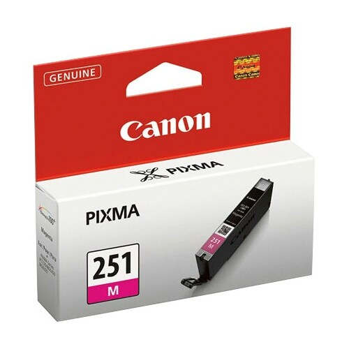 """Canon CLI-251M M Ink Cartridge Canon CLI-251M Ink Cartridge - Magenta - Inkjet - Standard Yield - 298 Page - OEM"""