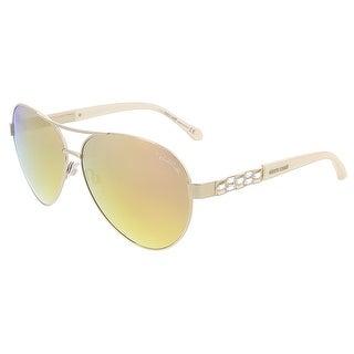 Roberto Cavalli RC905S/S 28G MERGA Shiny Rose Gold Aviator sunglasses