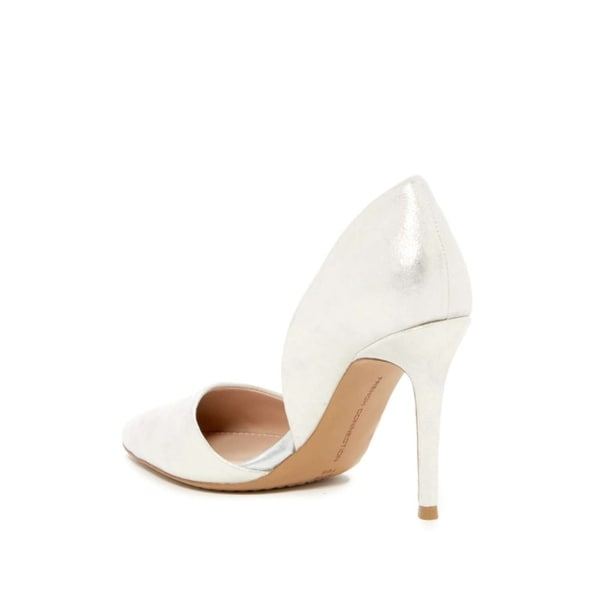 French Connection Womens Elvia Leather Pointed Toe D-orsay Pumps