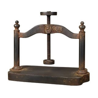 Sterling Industries 129-1009 Cast Iron Book Press