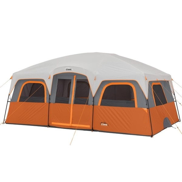 f1b0c261909b Shop CORE 12 Person Extra Large Straight Wall Cabin Tent - Free ...
