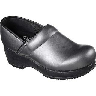 Skechers Women's Work Clog Slip Resistant Shoe Silver