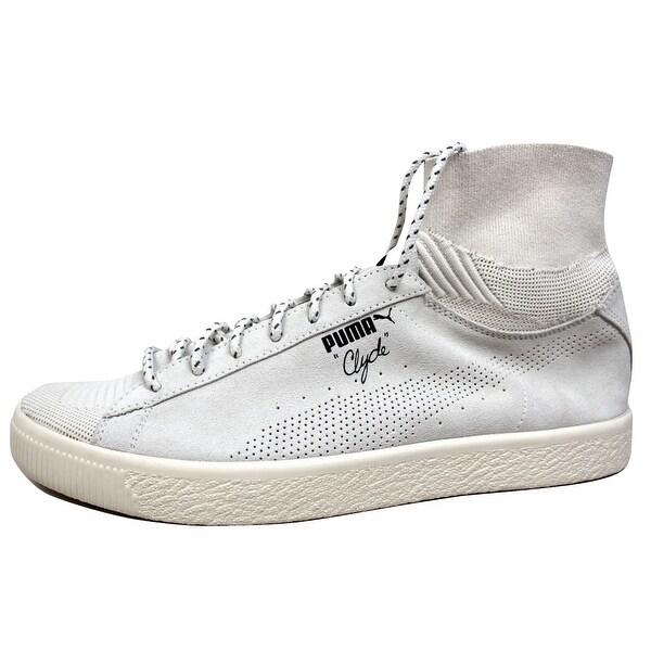 Puma Men's Clyde X BKRW Puma White 363670 02 Size 13