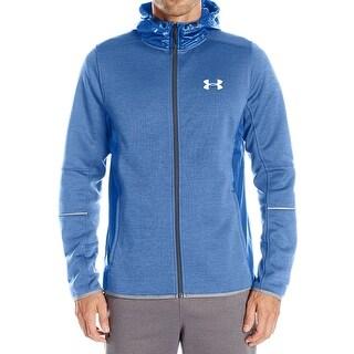 Under Armour NEW Blue Mens Size 2XL Fleece Full-Zip Hooded Jacket