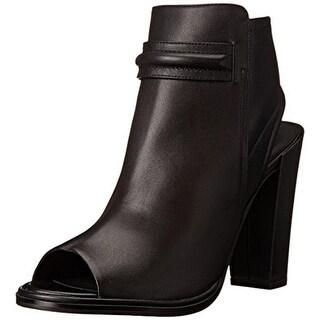 Kenneth Cole New York Womens Sydney Leather Peep Toe Dress Sandals - 8 medium (b,m)