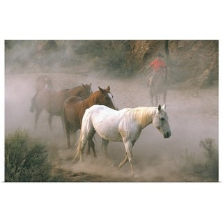 """""""Wrangler With Horses"""" Poster Print"""