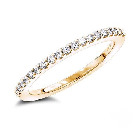 Luxurman 14k Gold 3/8ct TDW Diamond Wedding Band