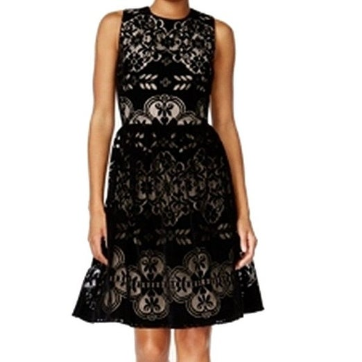 aba9457117c3c Shop Tommy Hilfiger Women s Velvet Lace Party Dress 2 - Free Shipping On  Orders Over  45 - Overstock - 19843839