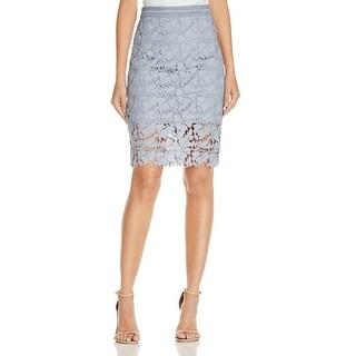 Bardot Womens Straight Skirt Lace Lined