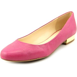 Isaac Mizrahi Janna Women Round Toe Leather Pink Flats