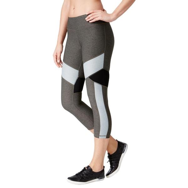 9d4e94b417 Calvin Klein Performance Womens Athletic Leggings Cropped Colorblock