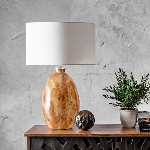 """nuLOOM Clifton 22"""" Traditional Amber Table Lamp"""