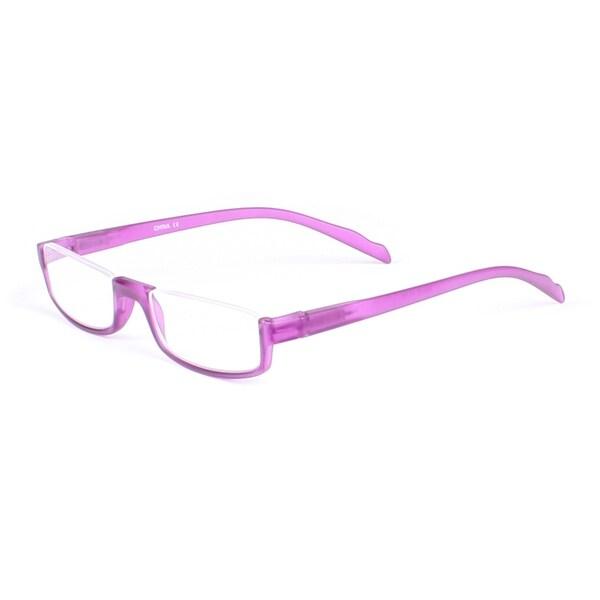 Half Rim Rectangle Reading Glasses - Purple