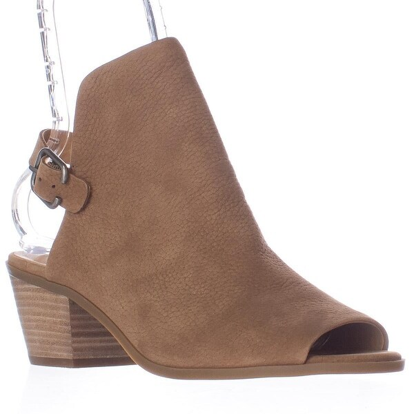 Lucky Brand Bray Open Back Peep Toe Booties, Sesame
