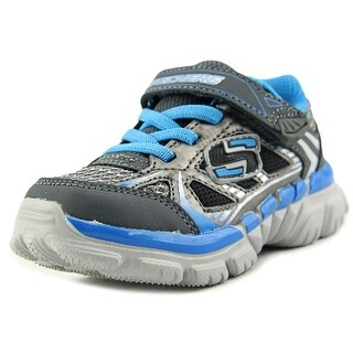Skechers Sport Tough Trax Youth W Round Toe Canvas Gray Sneakers