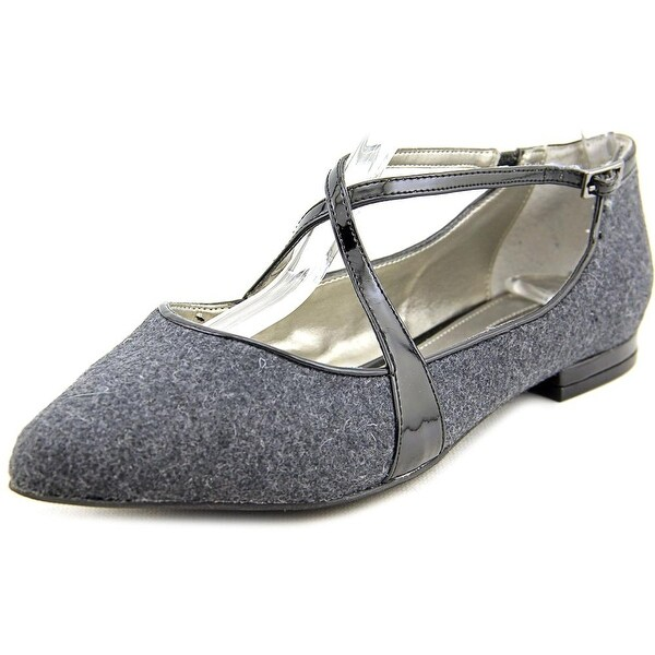 Alfani Zestiez Women Pointed Toe Canvas Gray Mary Janes