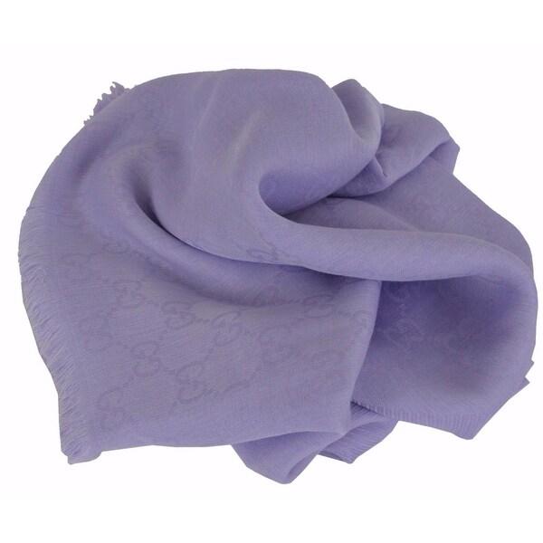 Gucci Women's 307245 Lavender Modal Cotton GG Guccissima Scarf Wrap 55 x 55