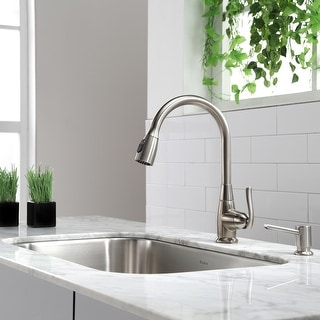 Link to Kraus KPF-2230 High Arch 1-Handle 2-Function Pulldown Kitchen Faucet Similar Items in Faucets