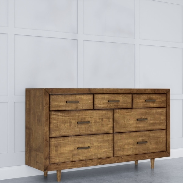 Abbyson Retro Mid Century 7 Drawer Wood Dresser. Opens flyout.