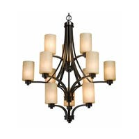 """Artcraft Lighting AC1312 Parkdale Single-Tier Chandelier with 12-Lights - 38"""" Wide"""