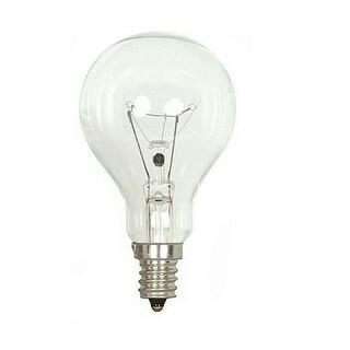 Satco S2740 Ceiling Fan Incandescent Light Bulb, 40 Watts, 120 Volt