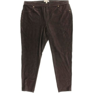 MICHAEL Michael Kors Womens Velour Casual Cropped Pants - 3X