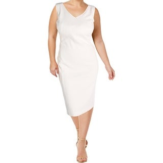 Kasper Womens Plus Party Dress Quilted Sleeveless