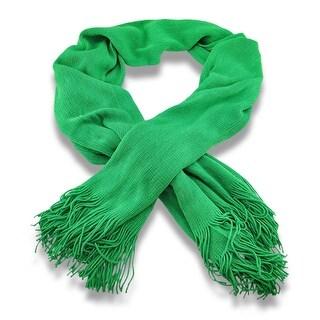 Soft Acrylic Green Knit Shawl 70 X 30 In.