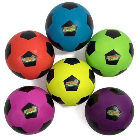Brybelly SBAL-421 6 Regulation Size Neon Soccer Balls
