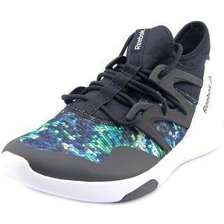 Reebok Hayasu Women Round Toe Canvas Black Running Shoe
