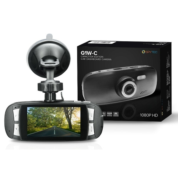 Spy Tec Sti-G1w-C Full Hd 1080P Capacitor Edition Dashcam (Black) With G-Sensor