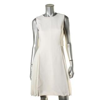 Lafayette 148 Womens Dorian Lined Side Pleat Wear to Work Dress