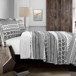 Link to Lush Decor Hygge Geo 3 Piece Quilt Set Similar Items in Quilts & Coverlets