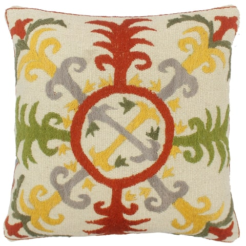 Bohemian Sayers Kilim Suzani Handmade Pillow