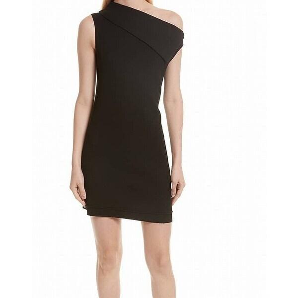 a0d62c28058 Shop Helmut Lang Women s Asymmetric Sheath Dress Wool - On Sale ...