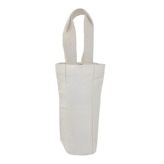 CTM® Canvas Single Bottle Wine Tote (Pack of 3) - Beige - One Size
