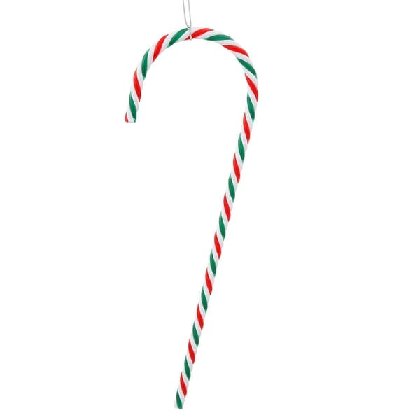 "Pack of 2 Red, Green and White Striped Candy Cane Christmas Ornaments 18"" - RED"