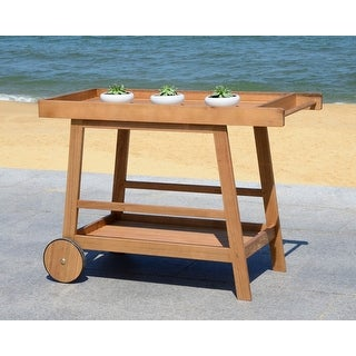 "Link to Safavieh Outdoor Living Remzo Bar Cart - 48""x20""x31.9"" Similar Items in Outdoor Coffee & Side Tables"