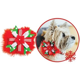 OUTWARD HOUND Holiday Corsage Collar Slide