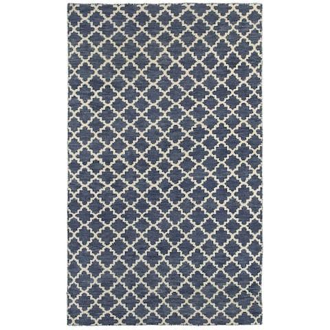 Tommy Bahama Maddox Hand-made Wool Trellis Area Rug