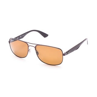 Ray-Ban Polarized Pilot Sunglasses Chocolate - Small