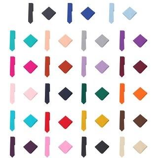 """Jacob Alexander Polka Dot Print Men's Slim 2.75"""" Tie Pocket Square Set - One size"""