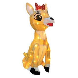 """18"""" Rudolph the Red Nosed Reindeer Collection Clarice Christmas Outdoor Decoration - Clear Lights"""