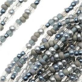Czech Seed Beads Mix Lot 11/0 Silver Wares Silver Mix- 1/2 Hank