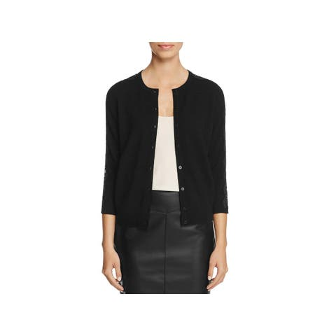 Private Label Womens Cardigan Sweater Cashmere Lace-Trim